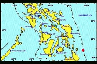 5 quakes strike off Surigao del Norte early Saturday