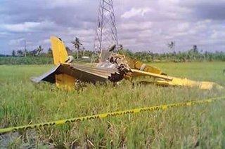 Piloto patay sa pagbagsak ng spray plane sa Davao del Norte