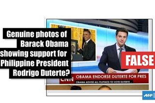 FACT CHECK: No, these are not genuine photos of ex-US president Obama showing support for Duterte