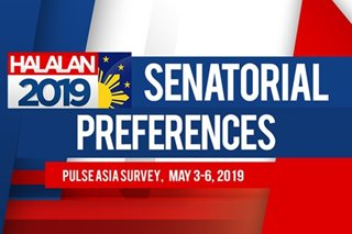 Pulse Asia May 2019 survey: Top 15 senatorial preferences