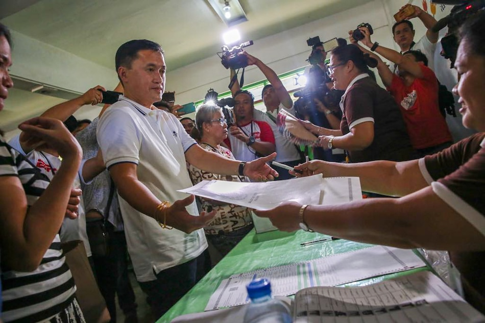 Bong Go casts vote as first-time candidate