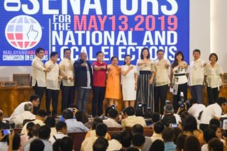 Mga waging senador, party-list group iprinoklama