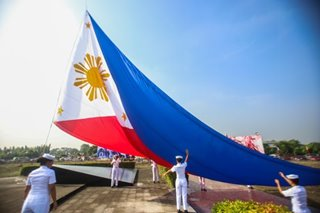 Philippine flag raised in Alapan