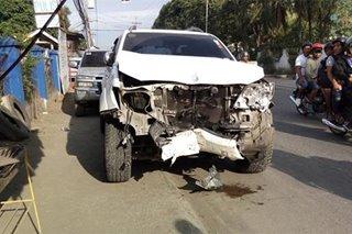 SUV sumalpok sa pader sa Zamboanga City