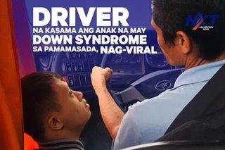 Bus driver na kasama ang anak na may down syndrome sa pamamasada, nag-viral