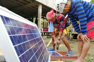 Students in off-grid Sarangani villages get solar lighting system