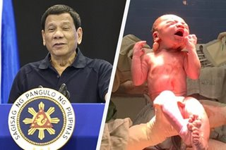 LOOK: President Duterte now has a great-grandson