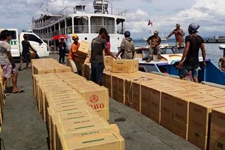 P7-M halaga ng umano'y smuggled na yosi nasabat sa Zamboanga City