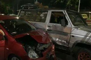 Grab driver sugatan sa aksidente sa QC