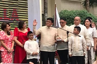 Cebu City's new mayor Edgardo Labella takes oath