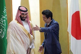 Japan's Abe offers Saudi crown prince help in reducing oil dependency