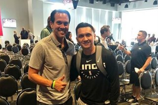 LOOK: Jimmy Alapag meets Coach Spo in NBA coaches summit