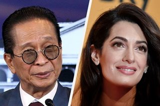 Duterte says Panelo a 'good match' for Amal Clooney