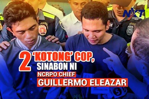 2 'kotong' cop, sinabon ni NCRPO Chief Guillermo Eleazar