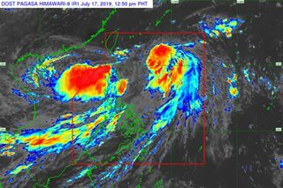 Fewer areas under wind signals as Falcon moves northwest: PAGASA
