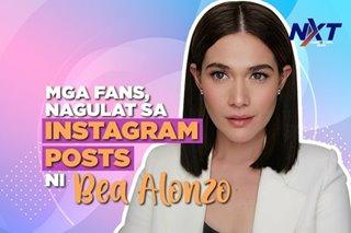 Mga fans, nagulat sa Instagram posts ni Bea Alonzo