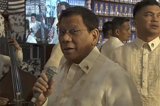 WATCH: Duterte sings along with orchestra after SONA