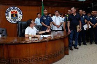 Barangay chairman na nanutok umano ng baril, humarap kay Mayor Isko