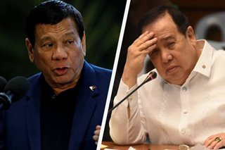 'Fart away from disaster': Duterte hits Gordon for comments on military appointees