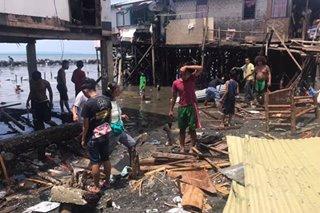 Higit 50 bahay nasira ng malakas na alon sa Davao City
