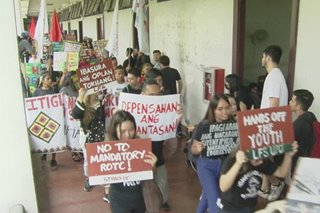 UP students protest 'militarization' in campuses