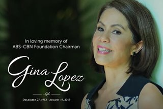 READ: Schedule of public viewing for the late Gina Lopez