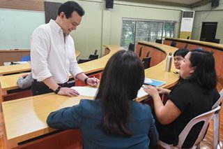 Terror or cool prof? Trillanes gives teaching a try amid opposition duties