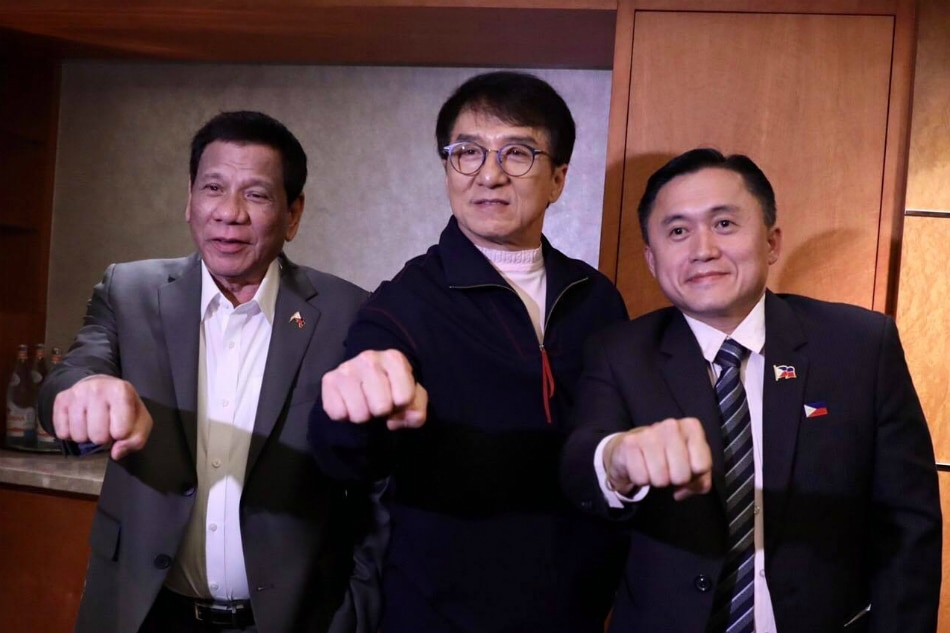 LOOK: Duterte meets Jackie Chan in Beijing