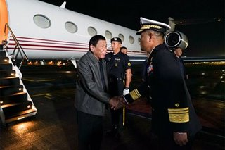 Duterte back in Manila after high-stakes visit to China