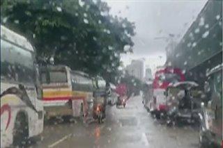 Mga impounded na sasakyan sinasakop ang Agham Road