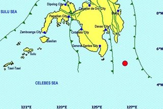 Magnitude 5.4 quake strikes off Davao Occidental