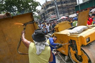 'Pison break': Road clearing operation in Manila