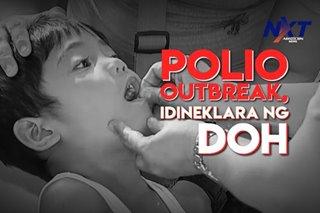 Polio outbreak, idineklara ng DOH