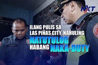 Ilang pulis sa Las Piñas City, nahuling natutulog habang naka-duty