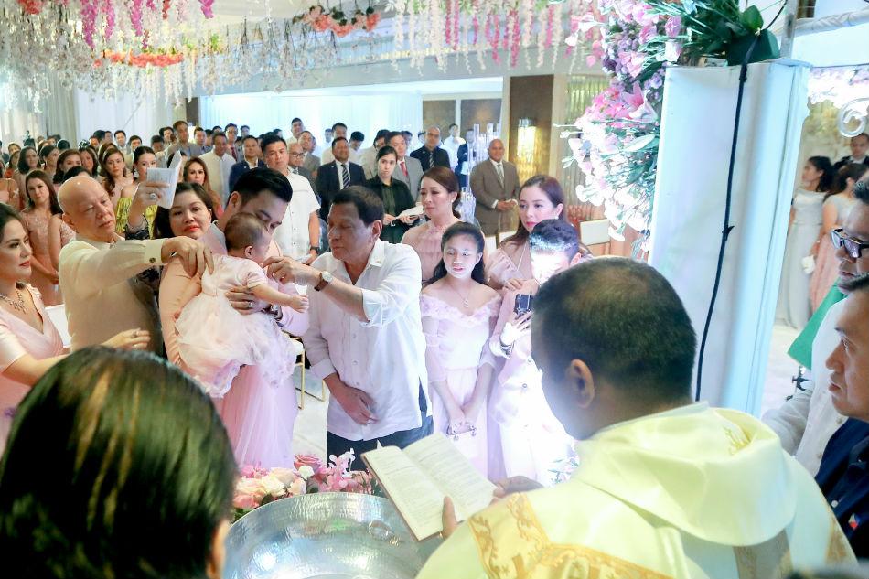 LOOK: 'Mentor' Duterte attends baptism of Velasco's daughter 3