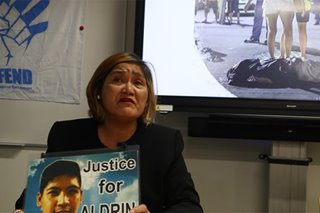'Justice for Aldrin': Mother of drug-war victim continues fight in foreign land