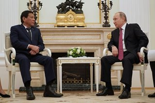 Duterte to meet with 'favorite' Putin, speak in forum in Russia visit