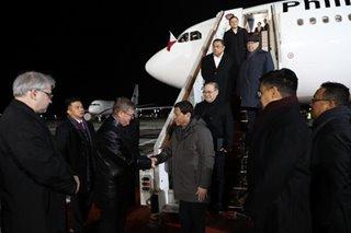Duterte arrives in Russia
