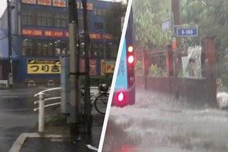 Bagyong Hagibis hinambalos ang Japan; bahagi ng Metro Manila inuulan din