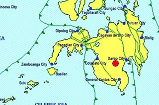 Another aftershock felt in parts of Mindanao, 3 days after 6.3 quake