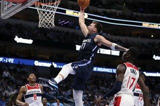NBA: Doncic, Porzingis guide Mavs past Wizards