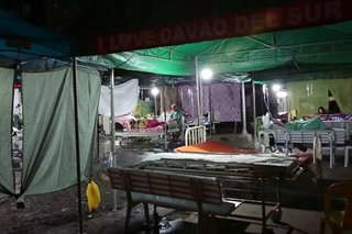 Patients camp out after tremor damages Digos hospital
