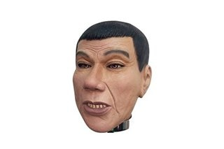 Halloween mask na hango sa mukha ni Duterte ibinebenta online