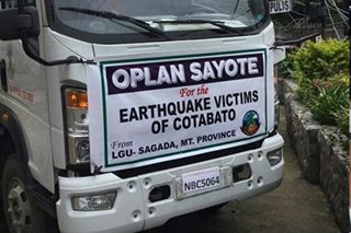 Mt. Province farmers donate sayote to quake victims