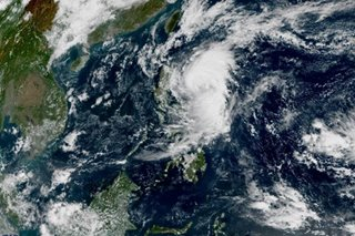 Typhoon Ramon makes landfall over Santa Ana, Cagayan
