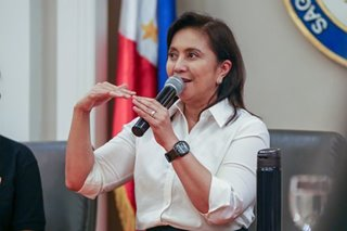 Robredo should face probe for 'competing' COVID-19 relief: Duterte's anti-corruption body commissioner