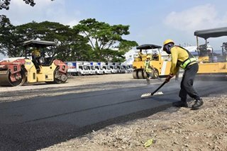 San Miguel uses asphalt made with recycled plastics in Cavite road project