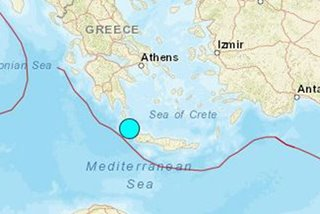 Quake measuring 6.0 recorded north of Crete