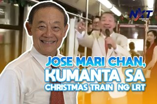Jose Mari Chan, kumanta sa Christmas Train ng LRT