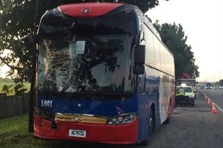 2 buses transporting SEA Games delegates figure in NLEX accident